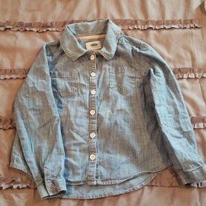 Long sleeve Medium Wash Denim Shirt